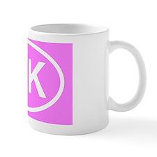 Pink 10K Marathon Sticker Mug