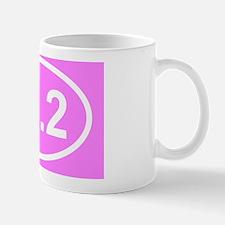 Pink 26.2 Marathon Sticker Mug