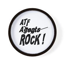 ATF Agents Rock ! Wall Clock