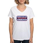 Proud American Women's V-Neck T-Shirt