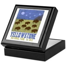 Yellowstone Bison Scene Keepsake Box