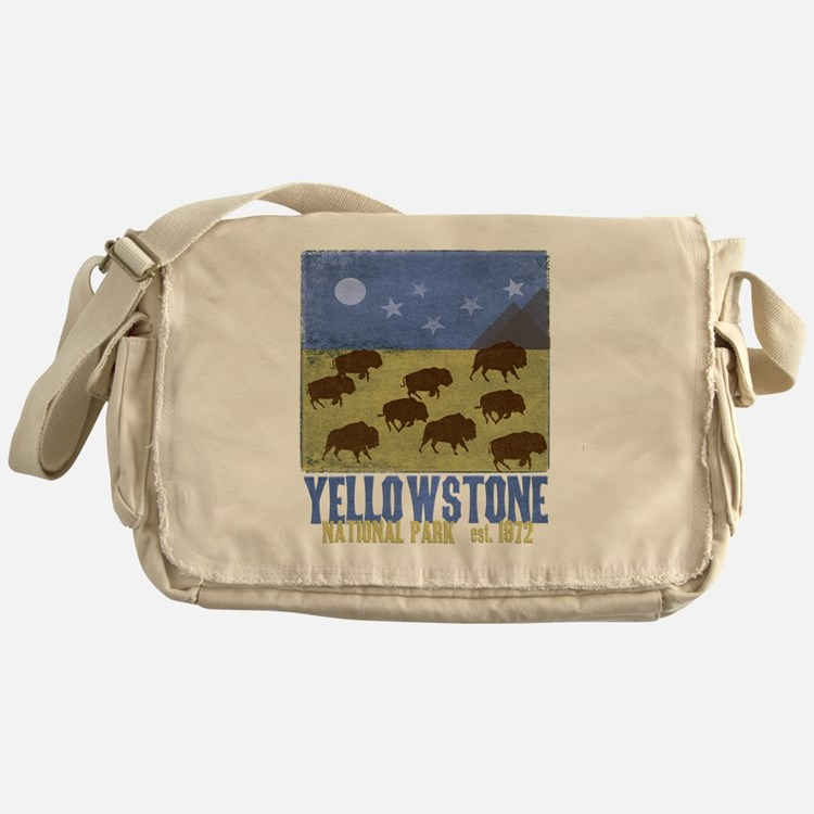 Yellowstone Bison Scene Messenger Bag