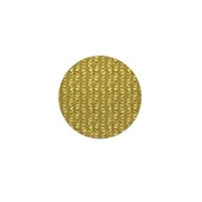 Gold Leaf Draping Curtain Pattern Mini Button