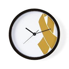 Dark gold ribbon Wall Clock