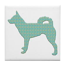 Paisley Klee Kai Tile Coaster