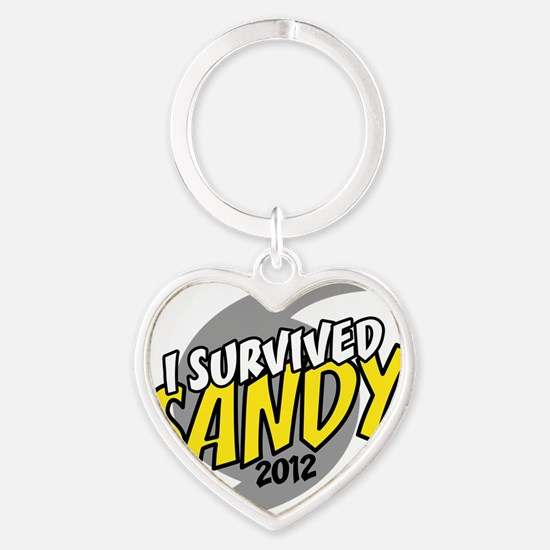 Hurricane Sandy Emergency I Survive Heart Keychain