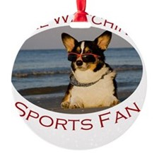 Girl Watching Sports Fan Ornament
