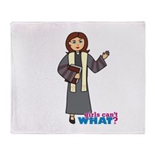 Preacher Woman Throw Blanket