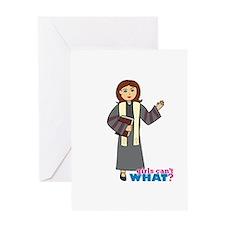 Preacher Woman Greeting Card