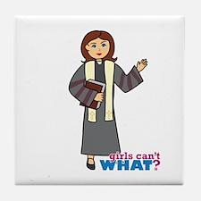 Preacher Woman Tile Coaster