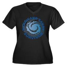 Hurricane Sa Women's Plus Size Dark V-Neck T-Shirt