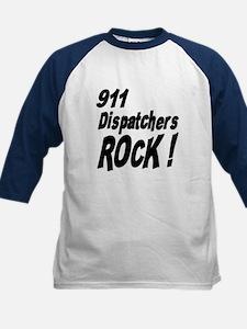 911 Dispatchers Rock ! Kids Baseball Jersey