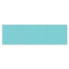 Houndstooth in Turquoise and Whit Bumper Stickers