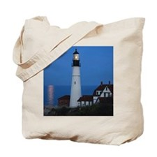 Super Moons Lighthouse View Tote Bag