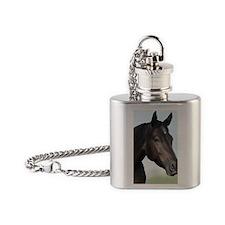 Kellie Digital Painting Flask Necklace
