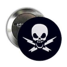 "Lightning Bolt Jolly Roger 2.25"" Button (10 pack)"