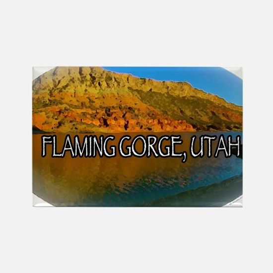 FLAMING GORGE, UTAH Rectangle Magnet