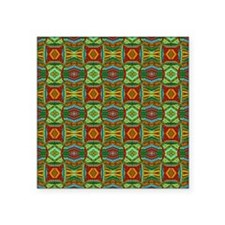 "Colorful Geometric Ethnic P Square Sticker 3"" x 3"""