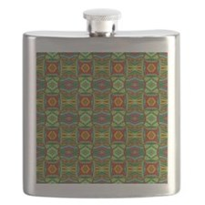 Colorful Geometric Ethnic Pattern Flask