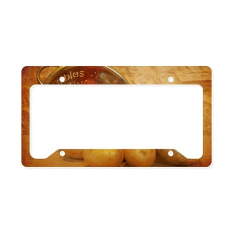 Cascading Vegetables License Plate Holder