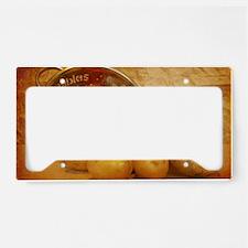 Cascading Vegetables License Plate Holder