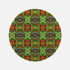 "Colorful Geometric Ethnic Pattern 3.5"" Button"