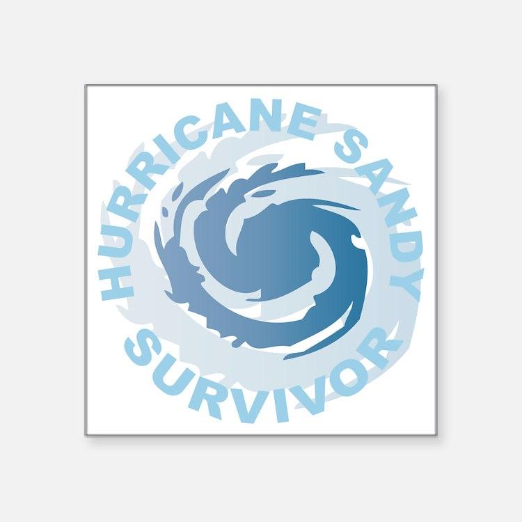 """Hurricane Sandy Survivor 20 Square Sticker 3"""" x 3"""""""