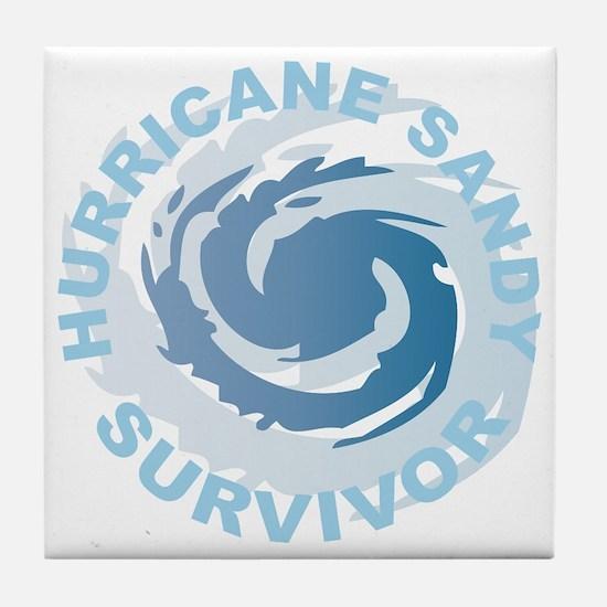 Hurricane Sandy Survivor 2012 Tile Coaster
