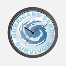 Hurricane Sandy Survivor 2012 Wall Clock