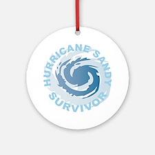 Hurricane Sandy Survivor 2012 Round Ornament