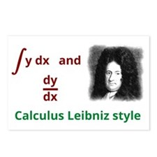 Calculus Leibniz style Postcards (Package of 8)