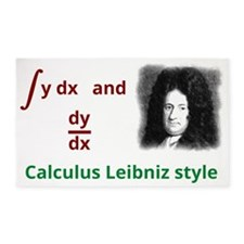 Calculus Leibniz style 3'x5' Area Rug