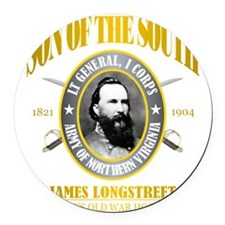 SOTS2 Longstreet (gold) Round Car Magnet