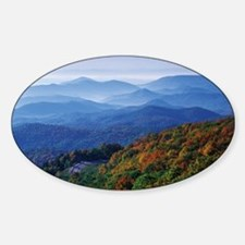 Blueridge Parkway Landscape Sticker (Oval)