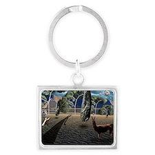 Dalis Llama Landscape Keychain