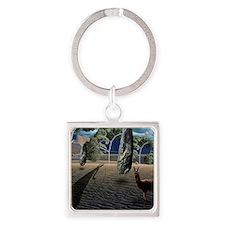 Dalis Llama Square Keychain