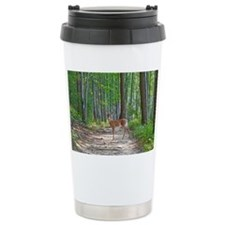 Doe in forest Travel Coffee Mug