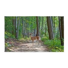 Doe in forest 3'x5' Area Rug