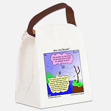 Windy Spider Website Cartoon Canvas Lunch Bag