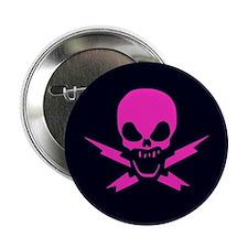 Lightning Bolt Jolly Roger Button