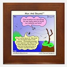 Windy Spider Website Cartoon Framed Tile