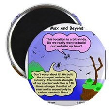 Windy Spider Website Cartoon Magnet