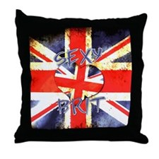 Sexy Brit 3 Throw Pillow