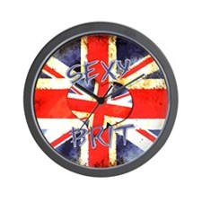 Sexy Brit 3 Wall Clock