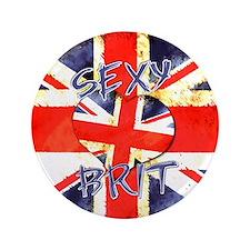 """Sexy Brit 3 3.5"""" Button"""