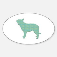 Paisley Berger Oval Decal