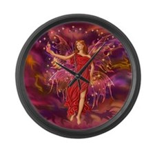 Fairy Flame 12x12 Large Wall Clock