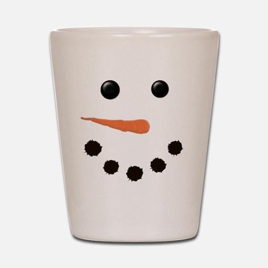 Cute Snowman Face Shot Glass