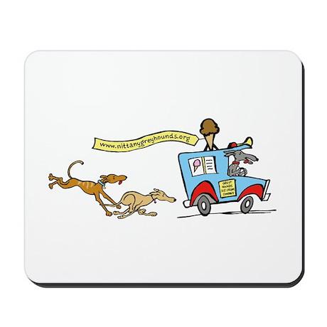 Greyhounds Ice Cream Truck Mousepad
