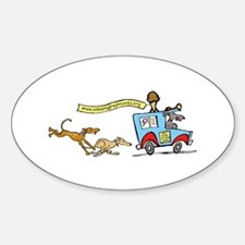 Greyhounds Ice Cream Truck Oval Decal